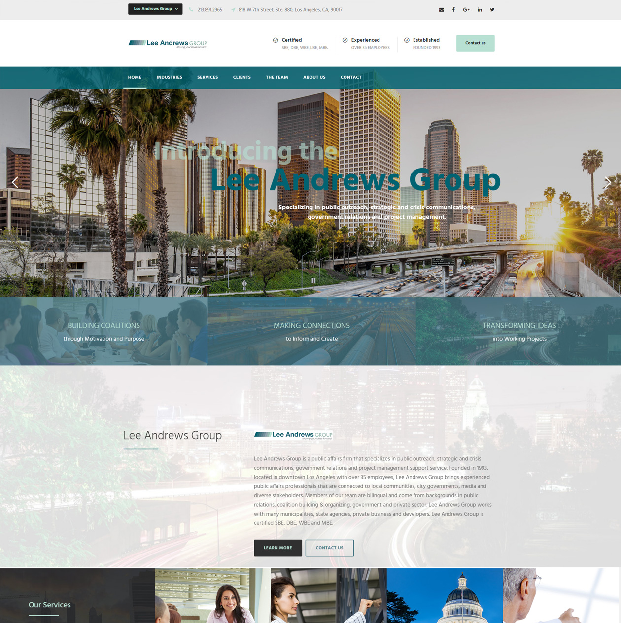 web design los angeles california